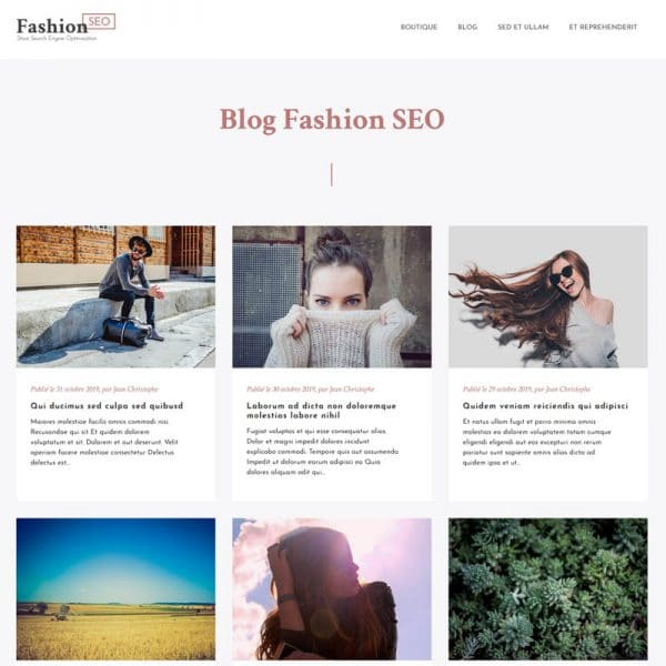 Fashion Blog Accueil