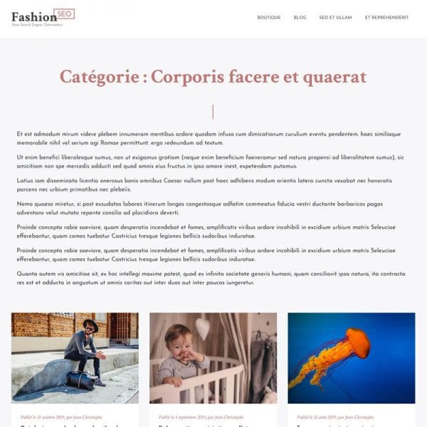 Fashion Blog Categorie