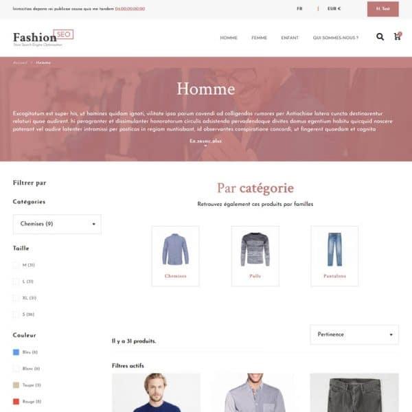 Fashion Seo Categorie